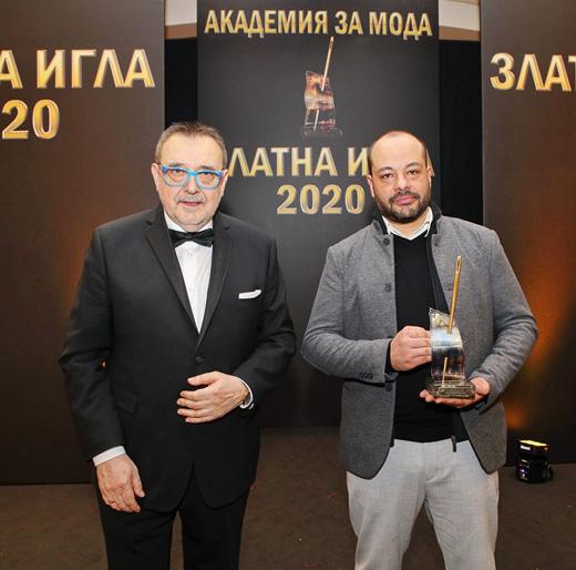 Проф. Любомир Стойков и Ивомир Пешев