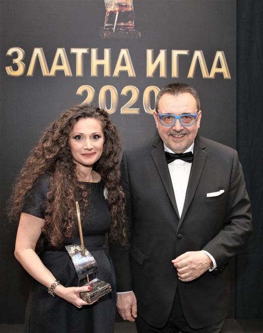 Ина Асса и проф. Любомир Стойков