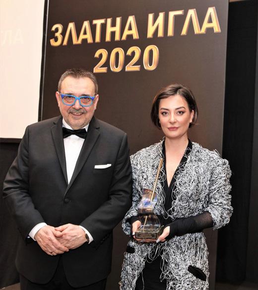 Теодора Спасова и проф. Любомир Стойков.