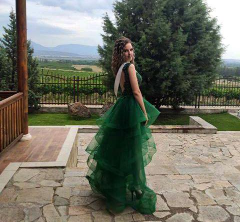 Бални рокли в зелено