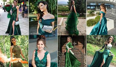 Най-стилните абитуриенти 2020 - Бални рокли в зелено