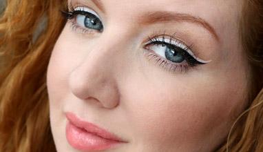 Бялата очна линия - най-новата тенденция в гримирането