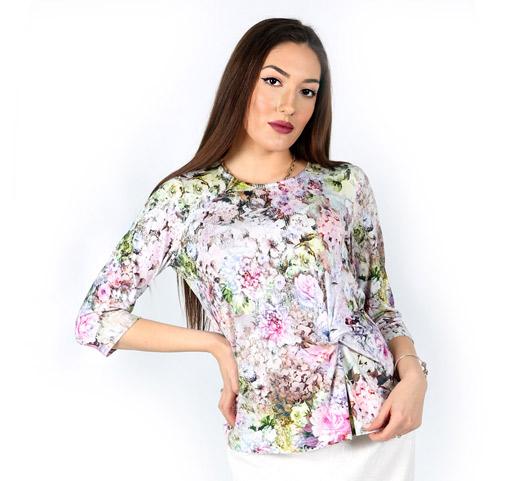 Дамска блуза с ръкав 7/8  с възел