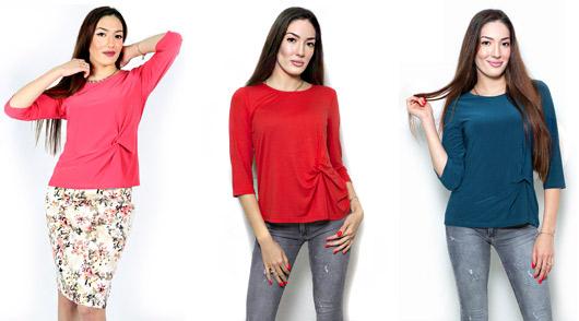 Цветни блузи с възел