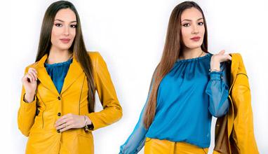 Синьо и жълто в новата колекция пролет-лято 2020 на Рени Стил