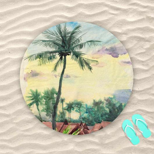 Кръглите плажни кърпи са актуални това лято