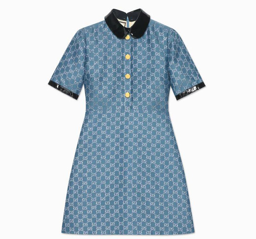 Синя рокля Gucci