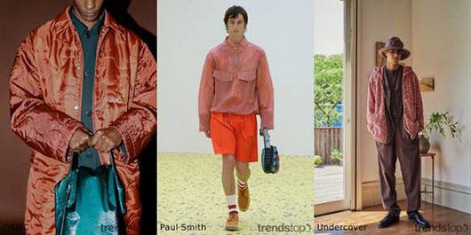 Men's trendy colors