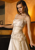 Colorful ideas for the wedding dress