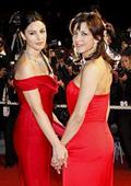 Софи Марсо и Моника Белучи в Кан - рапсодия в червено