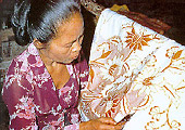 The Indonesian method of printing textile