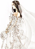 Kate Middleton's wedding dress sketched by world famous designers