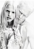 Albino model poses in Givenchy's Spring ad campaign