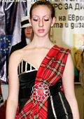 Students in fashion presented their interpretations of traditional garments of European nations
