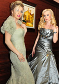Elena Karakoleva And Paolina Petrakieva Face Of The Enzoani For Celebrities 2012 Collection