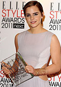 Emma Watson has been crowned a Style Icon at the Elle Style Award