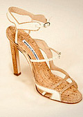 Manolo Blahnik designed shoes made from fish scale