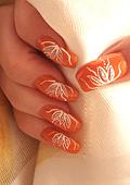 """Дизайн за нокти """"Оранжево  лято"""""""