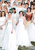 Brides' parade in the Bulgarian Danube city of Ruse