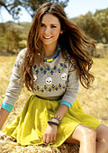 Nina Dobrev at the cover of