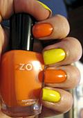 Нокти в жълто и оранжево за лято 2012