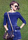 Дънковите рокли - тенденция за пролет-лято 2012