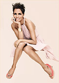 Halle Berry with a new advertising campaign for Deichmann